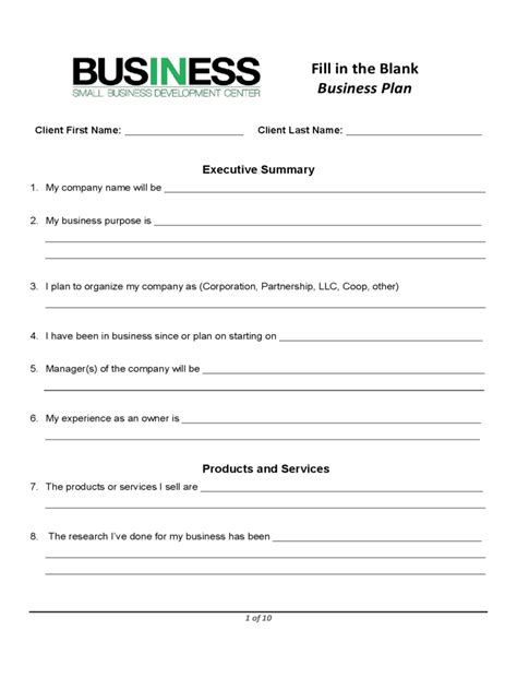 small business administration business plan template career