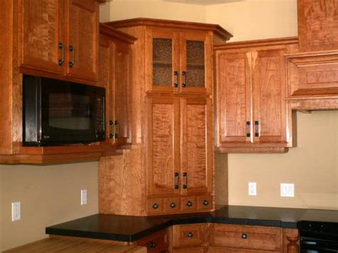 Kitchen Cabinet Corner | figured ropey cherry kitchen