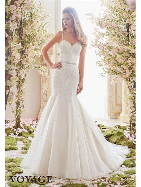Mori Lee 6835 Pearl And Crystal Beaded Fit And Flare