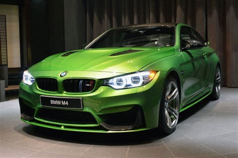 green bmw m4 another beautiful bmw m4 coupe in java green
