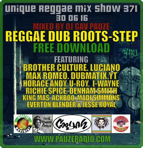 download mp3 dj reggae show 371 reggae dub roots step free download mp3 pauzeradio
