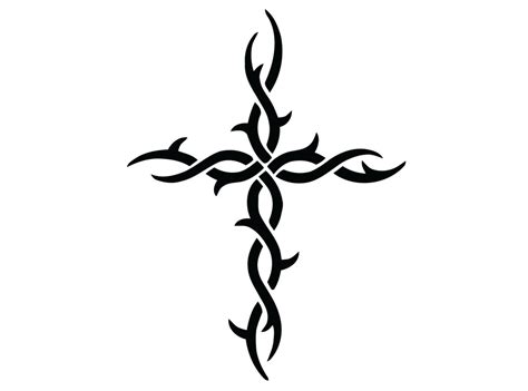 tribal cross decal cross with twisted tribal design sticker