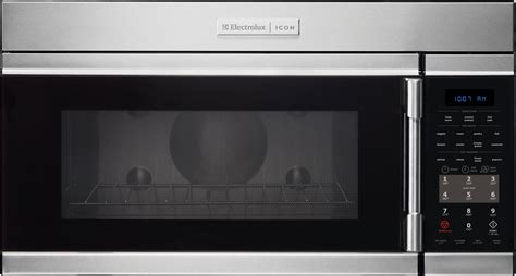 Microwave Second Electrolux E30mh65qps 1 8 Cu Ft The Range Microwave Oven With 1 000 Watts 400 Cfm 10