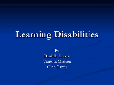 Learning And Performance Consultant At Sheryl Waxler Ph D Mba by Learning Disabilities With