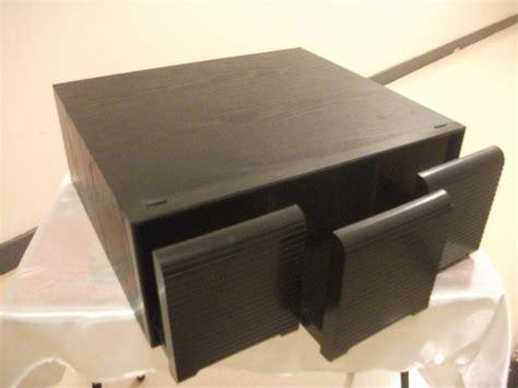 tiroir cd meuble rangement 4 tiroirs clasf