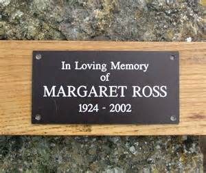 engraved bench plaques personalised memorial bench plaque by signs