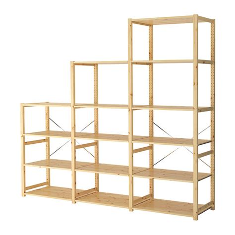 pine shelving units ivar 3 section shelving unit ikea