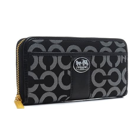Ready Coach Swager 33 Black lowest price coach legacy in signature large black wallets
