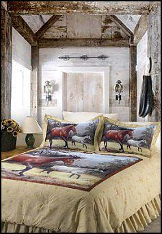 horse decor for the home girls bedroom on girls horse and pony quilt bedding set