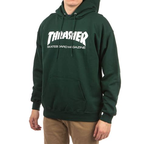 thrasher skate mag hoodie forest green