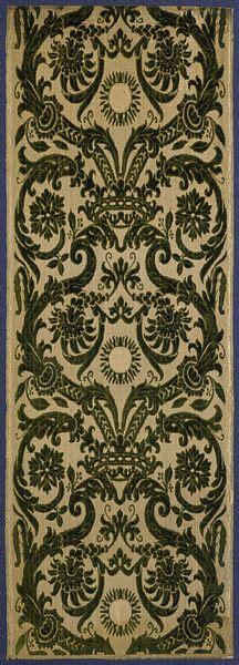 furnishing fabric turkey 16th century patterns five pinterest silk velvet furnishing fabric 1570 1600 possibly made in