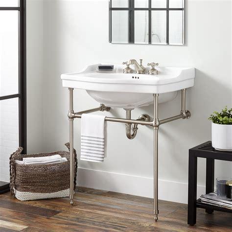 cierra large porcelain console sink  brass stand