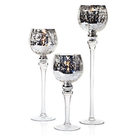 Mercury Glass Candle Holders Z Gallerie by Tealight Trio Silver Z Gallerie