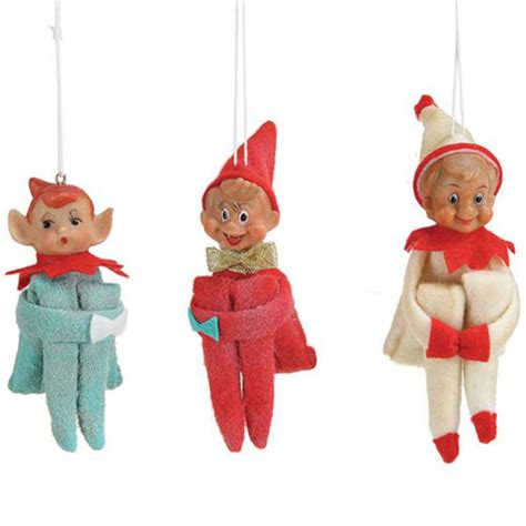 elf knee hugger christmas tree ornaments set 6 nova68 com