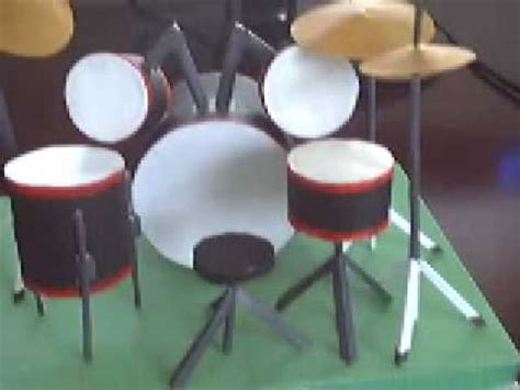 How To Make A Paper Drum Set - drum set paper