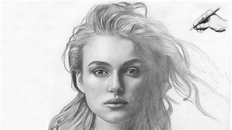 how to draw a portrait keira knightley portrait zeichnung speed drawing how