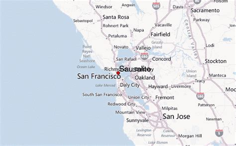 sausalito map guide urbain de sausalito
