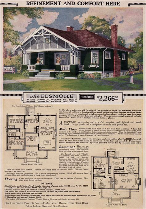 sears kit house plans 1923 elsmore sears modern kit homes kit houses small craftsman style bungalow