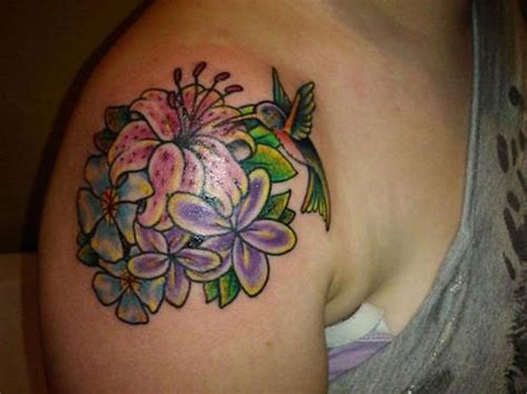 flower and hummingbird tattoo designs 83 wonderful flowers shoulder tattoos