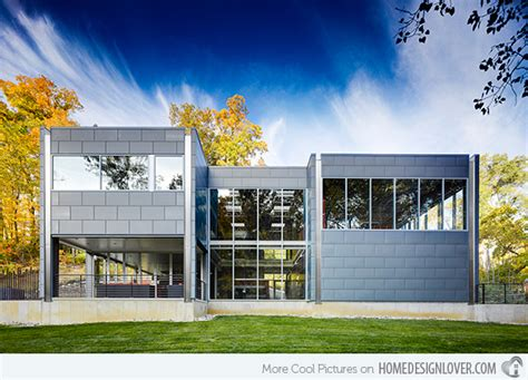 modern home design ohio zinc house of industrial zinc exterior in ohio home