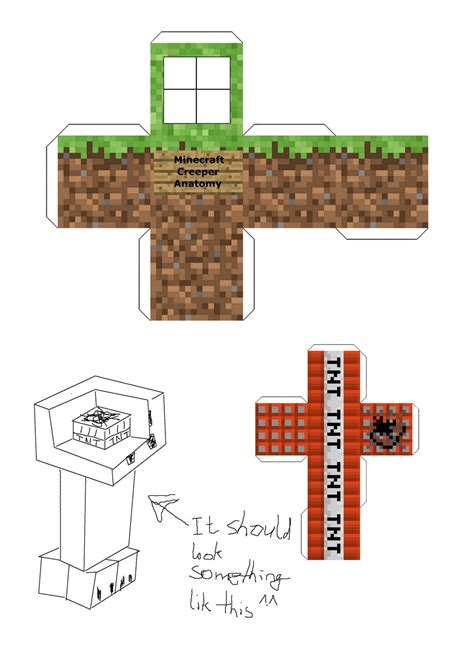 Minecraft Papercraft Creeper - paper crafts template minecraft