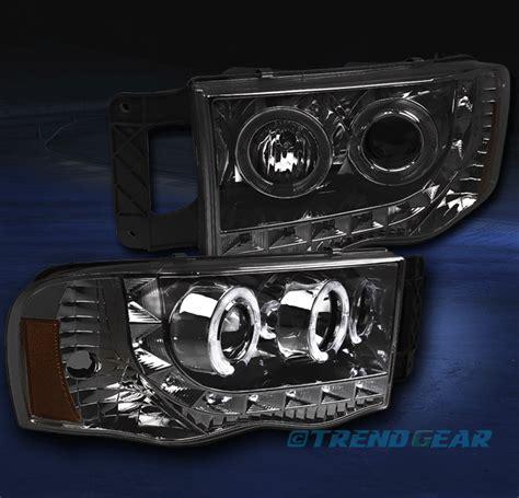 2003 dodge ram 1500 headlight assembly 2002 2005 dodge ram 1500 2003 2500 3500 dual halo led