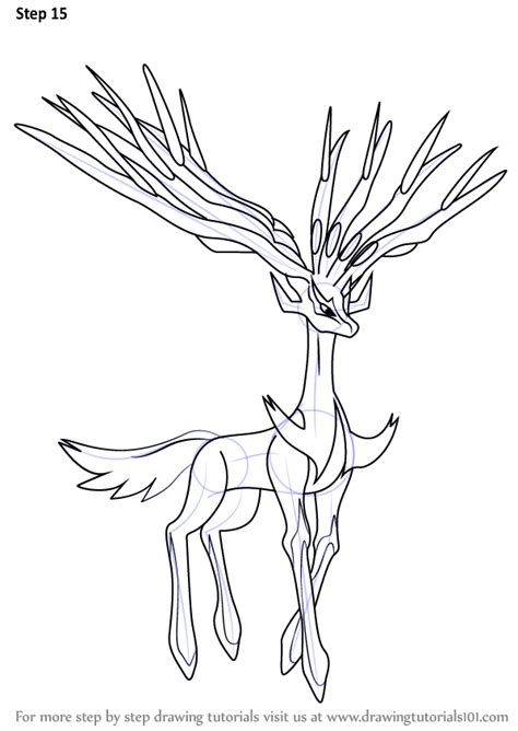 pokemon coloring pages xerneas step by step how to draw xerneas from pokemon