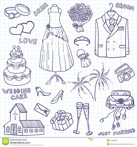 Wedding Doodle by Wedding Doodles Royalty Free Stock Images Image 16105689