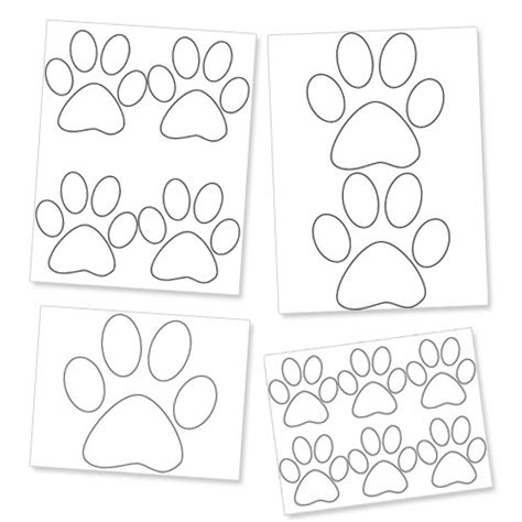 Printable Paw Template Dog Paw Prints Printable Treats Com Paw Print Templates