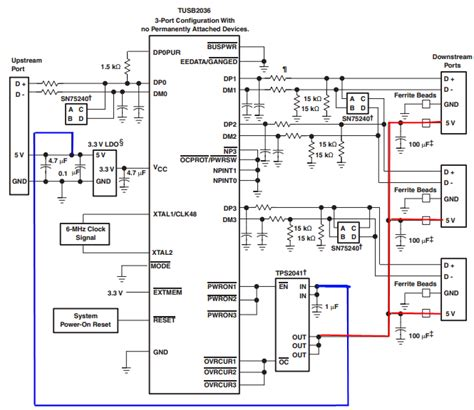 diy usb hub schematic