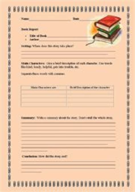 book report template for high school students book report form for middle school students elementary