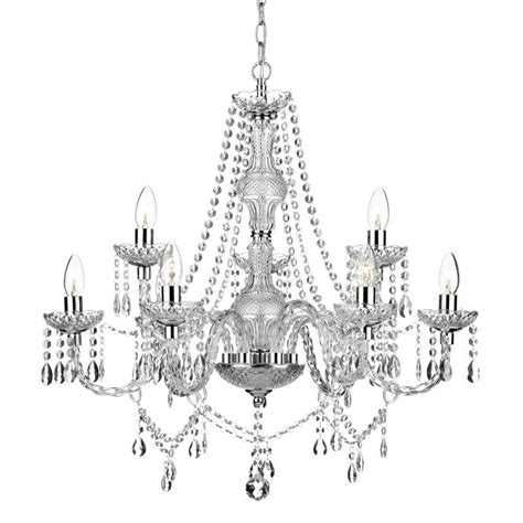 Katie 9 Light Chandelier Polished Chrome Lighting Direct Lighting Direct Chandeliers