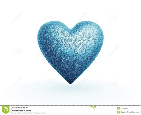 pattern blue heart blue heart with flower pattern stock photos image 19180003