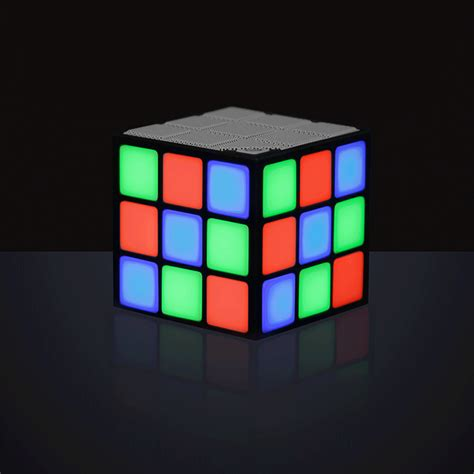 Cool Speakers have a miniature rave with this led cube speaker