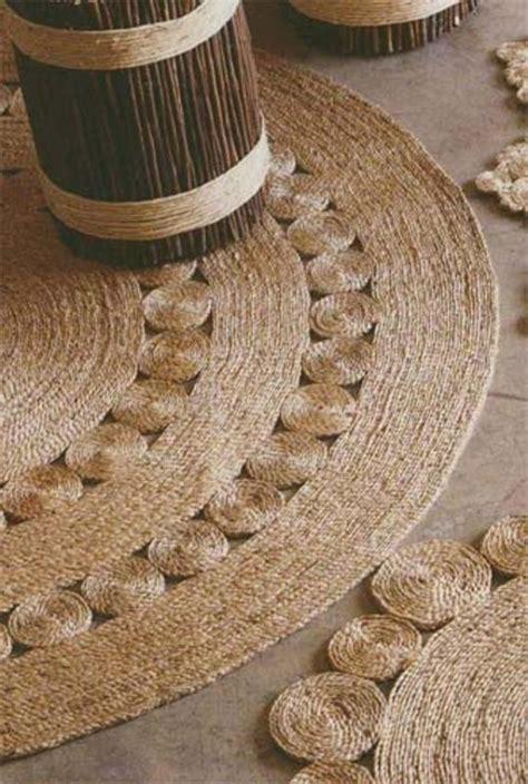rope rug diy diy rustic rug of jute or sisal rope shelterness