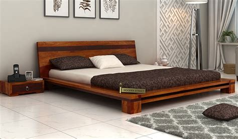 low floor bed flaux low floor bed king size honey finish