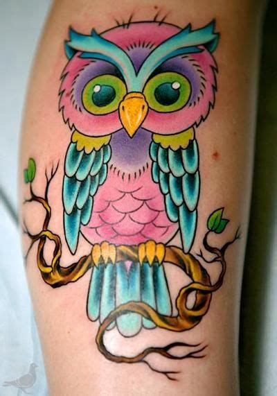 color owl tattoo owl tattoostime search