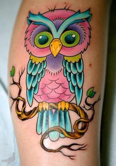 tattoo owl cartoon pink cartoon owl tattoo tattoos pinterest