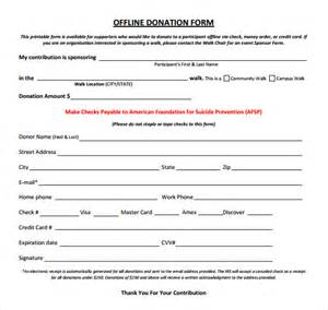 Template For Donation Form by Sle Donation Sheet Template 5 Free Documents