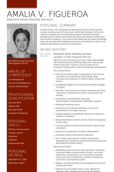 Resume Quantity Surveyor Malaysia executive senior quantity surveyor resume exle resume