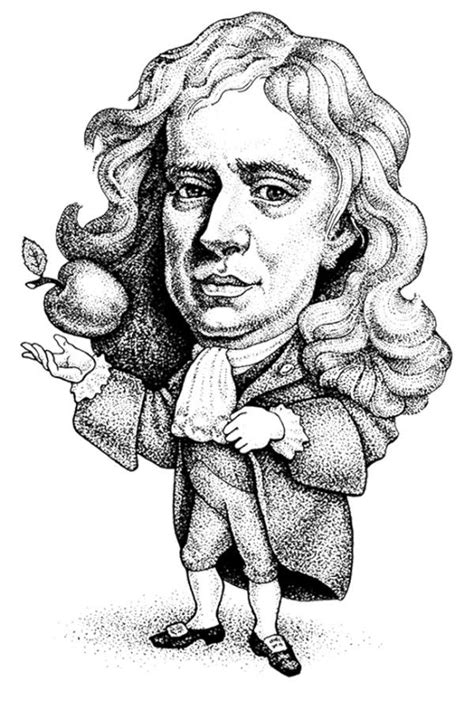 isaac newton biography for students pictures caricature isaac newton coloring for kids