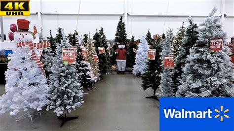 christmas walmart decor walmart 2018 complete section trees ornaments decorations shopping 4k