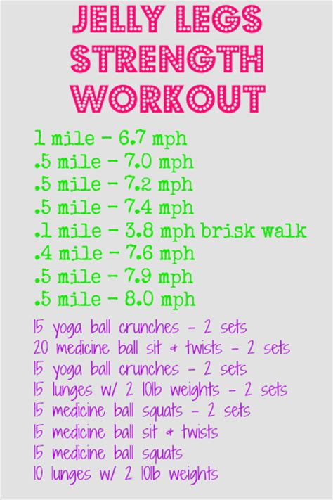 an easy leg and strength workout for runners