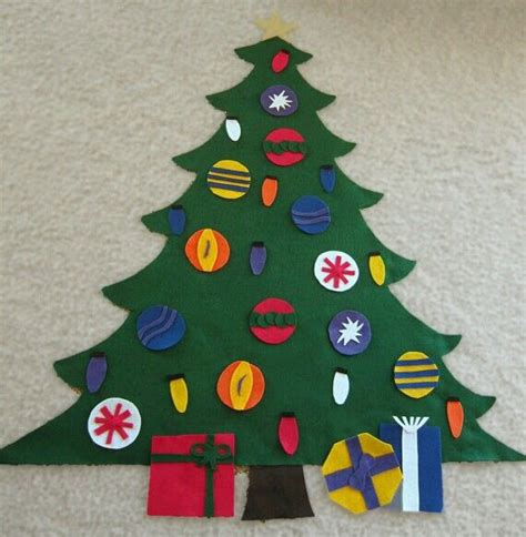felt christmas tree craft christmas pinterest