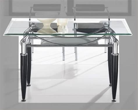 Metal Glass Top Dining Table Metal Dining Table W Glass Top Ol Dt17
