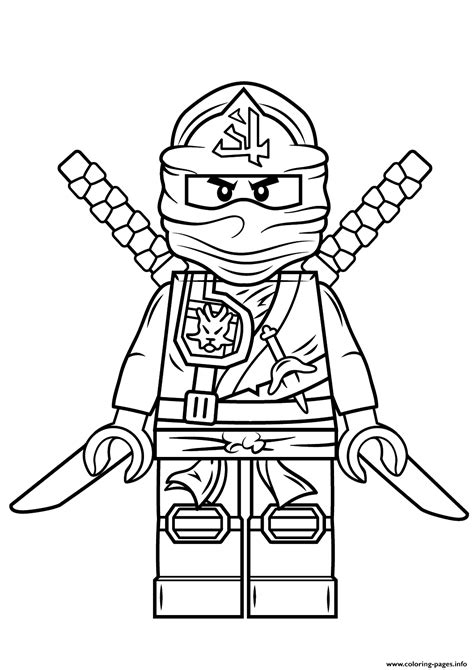 lego ninjago coloring pages free print lego ninjago green ninja coloring pages kids