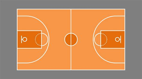 outdoor basketball court template basketball court plan powerpoint shapes slidemodel