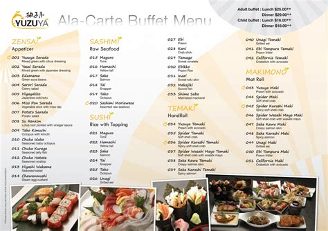 List Of Japanese Buffets In Singapore Camemberu Buffet List