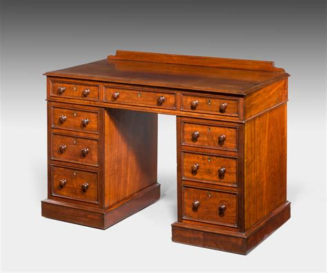 Antique Small Pedestal Desk Summers Davis Antiques Small Antique Desks