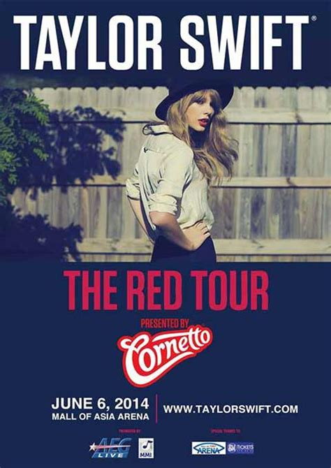 taylor swift tour 2018 dates asia taylor swift the red tour in manila 2014 concert details